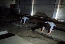 Ontsproten aan beton